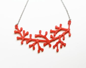 Red Neuron Necklace