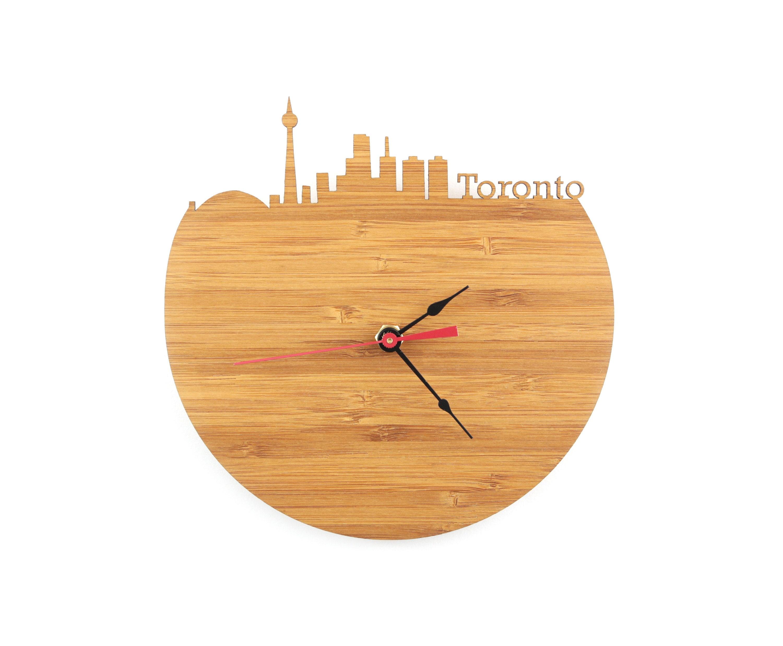 Wall Clock Toronto Skyline Etsy