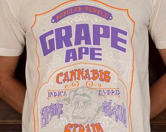 f7e5f1ba299a54 Grape Ape Powerful Indica Cannabis Strain T-shirt