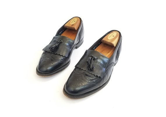 Wedding Wingtips 5 Oxfords Florsheim Loafers 7 Classic Dress Brogue Tassel Shoes Loafer Mens Imperial Vintage Shoes Brogues Black Leather RqzxSzT