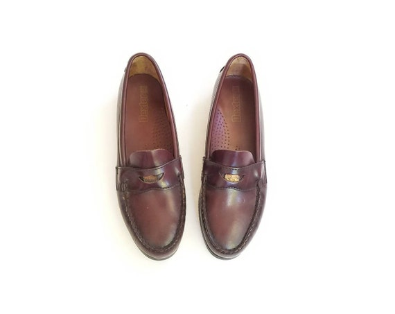 b37b37774db Vintage Womens 9 Dexter USA Penny Loafers Slip On Leather