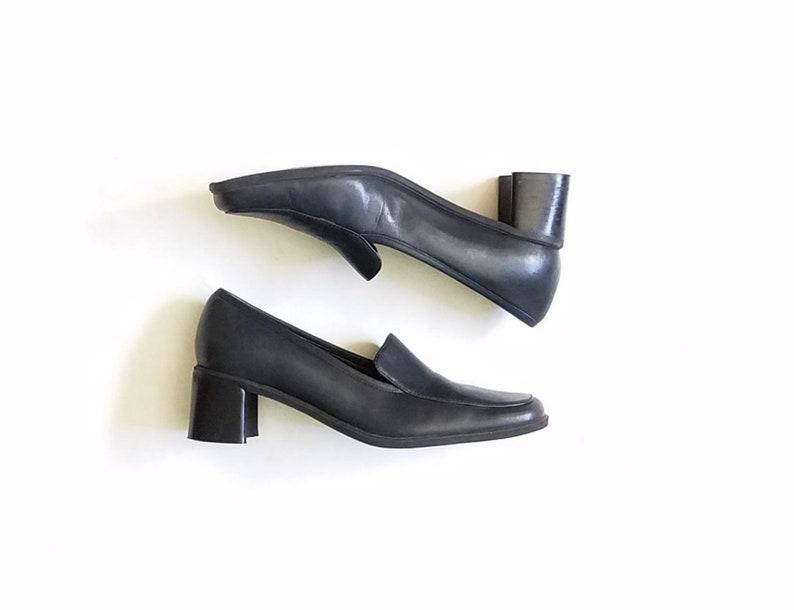 25283effc91e Vintage Womens 6.5 Naturalizer Heeled Slip On Loafers Pumps