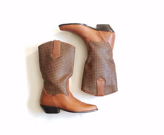 44308b4cb4a3 Femmes Vintage 8 Dingo Boots botte haut Pull à cheval sur cuir   Etsy