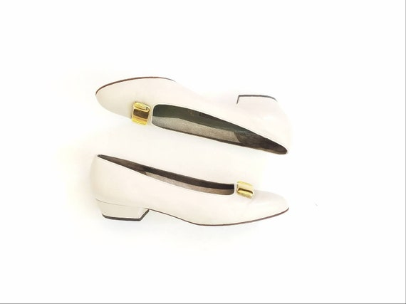 8 Shank Shoes Dress Classic Hipster Leather of Womens Style Ponte Preppy Slipon Emily Heels 5 Bally Pumps Vintage Shoes Switzerland Cream Px5qR5