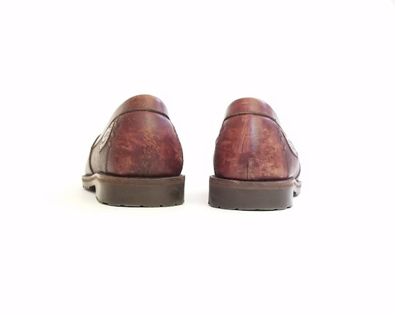 Chaussures pont pompon franges chaussures Brogues Vintage BCBG d mocassins mode bateau Oxford 9 classique Mens 5 aile mocassins HS Trask 80wZ66qx