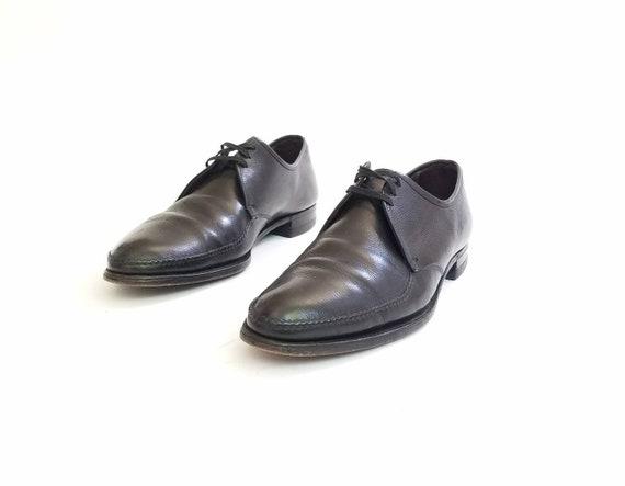 Classic Shoes Moto Genuine Florsheim 13a Black Oxfords Brogues Dress Mens Pointy Wedding Shoes Leather Vintage Tie Toe Suit xqBgan