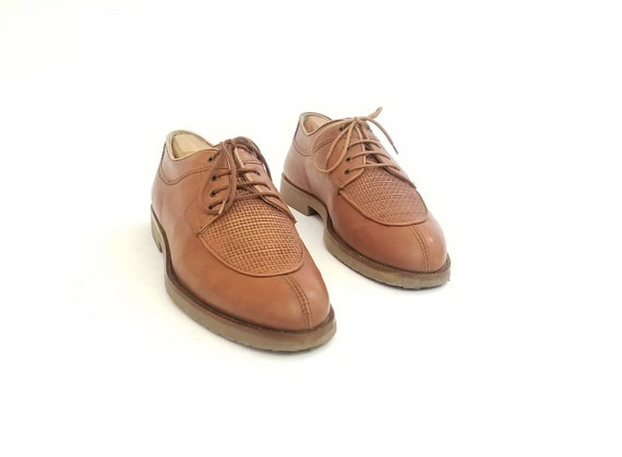 Huaraches Shoes Boho Vintage Split up Dress Brown Toe Derby Braided Lace Italian Brogues 5 9 Adolfo Woven Natural Mens Leather Shoes Oxfords fgq1R6