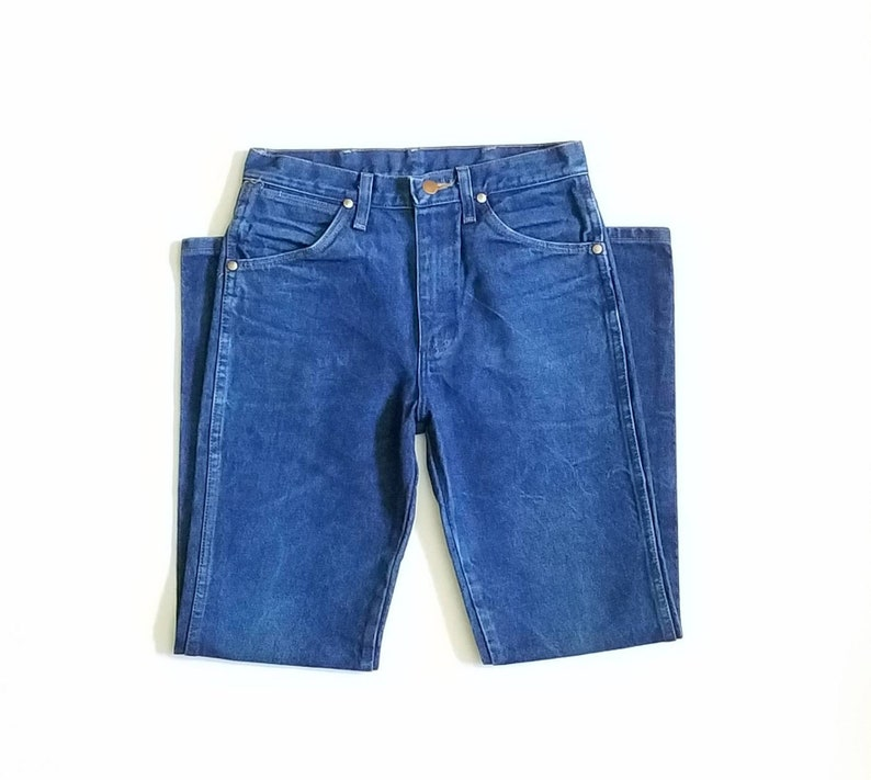 c10e8b42 Vintage Mens Womens 29/30 Wrangler Blue Jeans Classic Denim | Etsy