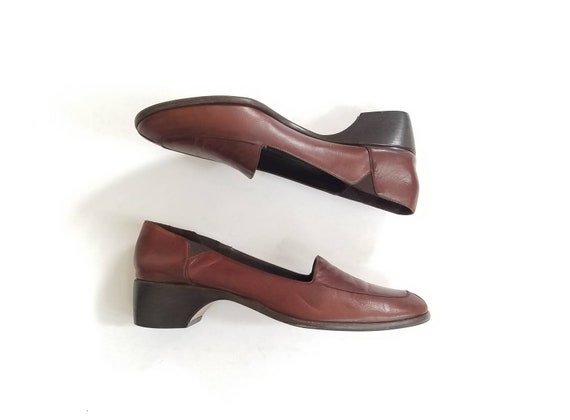 Slip Fashion Haan 7a Womens Brown Spring Shoes Shoes Vintage Heeled Boho Cole Heels On Oxfords Deck Loafer City Boat Pumps Loafers Leather wRYxqCt