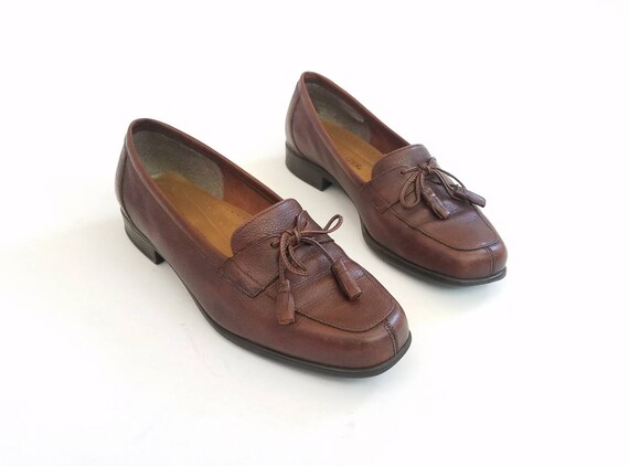 Loafer Work Naturalizer Slipon Spring Wear 5 Leather Tassel Brown Vintage Preppy Fringe Shoes Slipons Loafers Summer Womens 7 Comfortable wtXwOHq