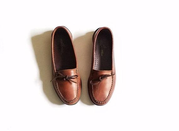 Vintage  Herren 7 Sperry Topsider Braun Leder  Slip On Loafers  Leder  Etsy 96af9d