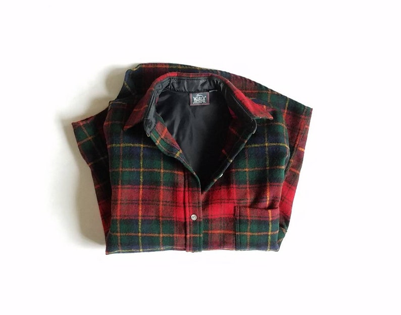 2ef7d8f5c588c Vintage Womens Small Medium Woolrich For Women Plaid Long Sleeve Shirt  Oxford Wool Classic Preppy Streetwear Style Fashion Work Wear Spring
