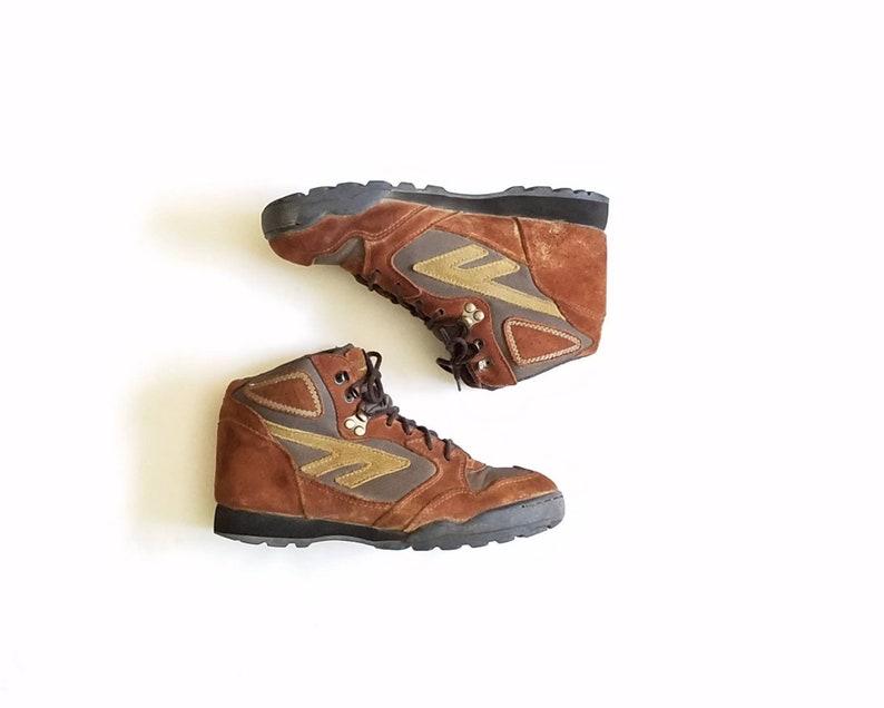 108297ef7bd21 Vintage Womens 9 Hi Tec Sierra Lite Hightops Ankle Boots Boot Bootie  Booties Brown Green Classic Mountaineering Peak Trail Boot Moto Hipster