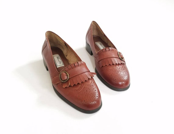 ailes 8 mocassins m Webster Femmes Oxford 5 Vintage sangle moine Bellini Sport frange 85nOHqw0