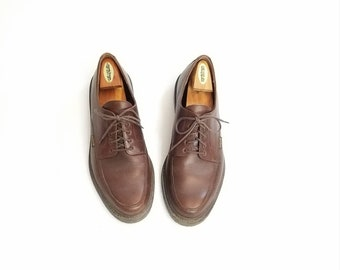 Vintage Mens 11.5 Mephisto Damon Oxford Shoe Shoes Quality Comfortable Dress Walking Shoes Designer Brown Leather Classic Fall Fashion Work
