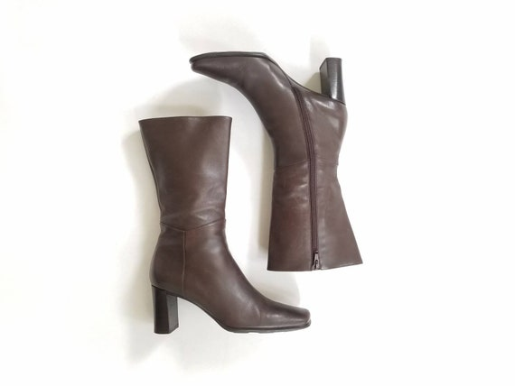 Leather 6 Bootie Boots Brown Dress Riding Italian Italian Boho 90s Boot Ankle Spring Womens Via Designer Soft Spiga Vintage Booties Boots q5wnpYxPP