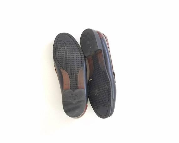 Leather 5 On Brown Two Loafer Hipster Bass Shoes Slip Vintage Black 7 Shoes Oxfords Topsider Tassel Tone Loafers Womens Boho Deck Boat O7EnRZ
