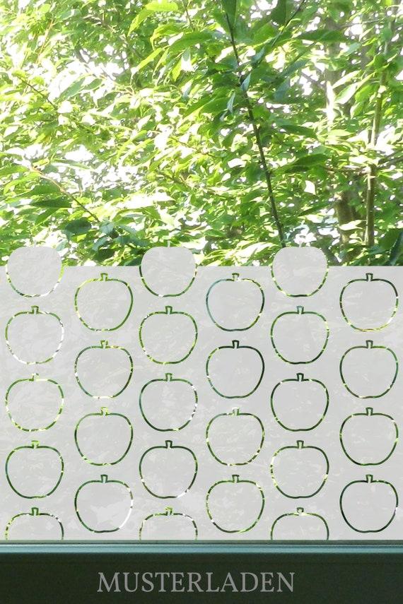 Sichtschutz Folie Fenster Apfel Kuche Apfel Fensterfolie Etsy