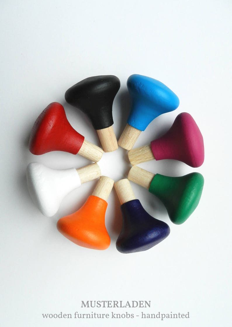 Colorful furniture knobs Colourful drawer knobs Cabinet image 0