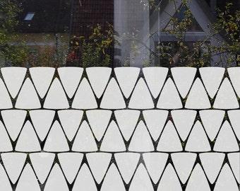 Triangle Window Privacy Film Geometric Privacy Decal Privacy Film for Bathroom Minimal Privacy Film Bathroom Window Decals Privacy
