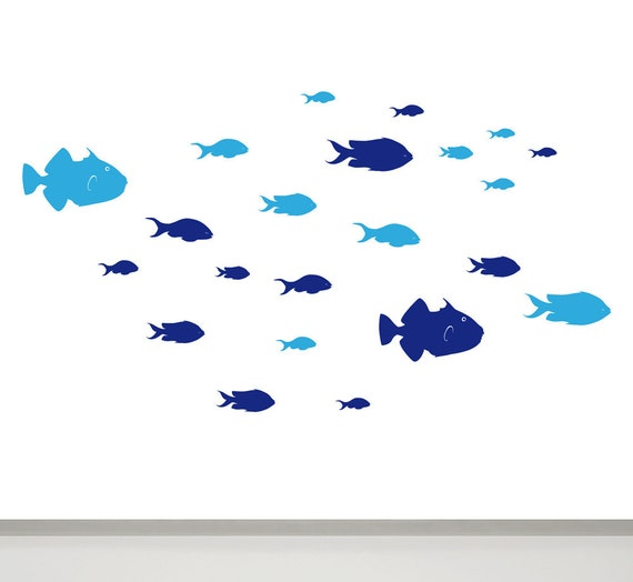 Fish Wall Decal Bathroom Wall Decor Children Wall Decal