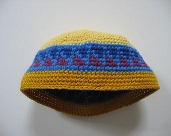 cotton/wool toddler child size 4-10 cap sun hat