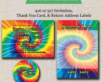 rainbow tie dye favor tags spin art favor tags tie dye etsy