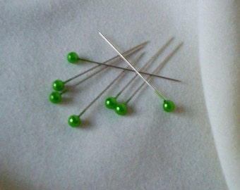 Items similar to 2 doz pink pearl corsage pins bridal supply 144 green pearl pins diy corsages wedding floral supplies boutonniere pins bridal supply bouquets ornaments bridal accessories sewing solutioingenieria Choice Image