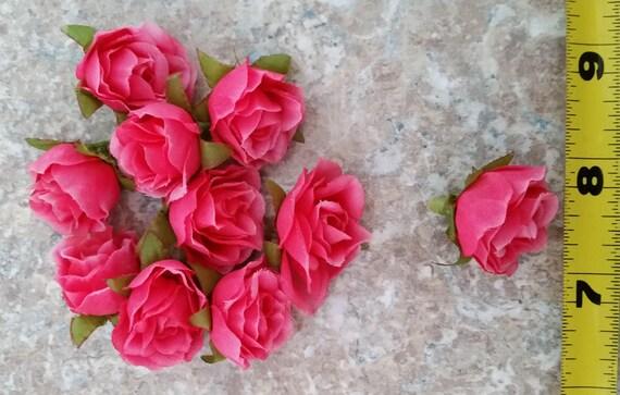 Hot pink silk flower crown supplies 10 small roses diy hair etsy image 0 mightylinksfo