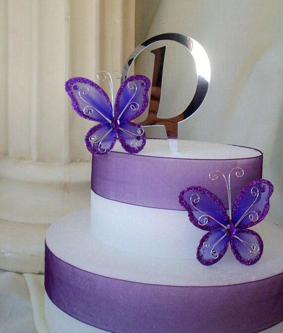 Wedding Cake Decorating Supplies Diy Initial D Monogram Cake Etsy