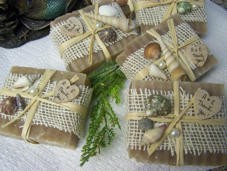 handmade soaps Set of 25 organic soaps wedding favors Beach Wedding favors wooden heart