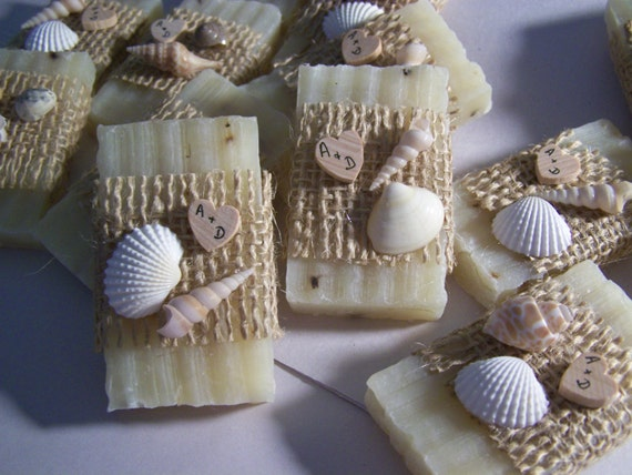 Beach Wedding Favors 30 Bridal Shower Favors Soaps Seashells Etsy