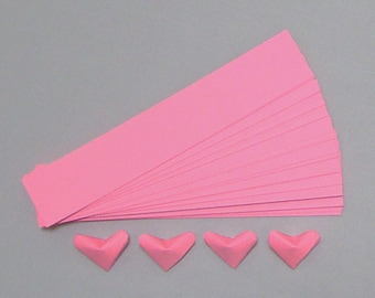 Lucky Hearts Paper Strips 100 Pink