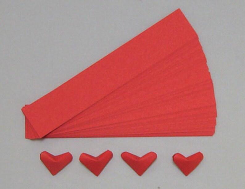 Gluckliche Herzen Papier Streifen 100 Rot Etsy