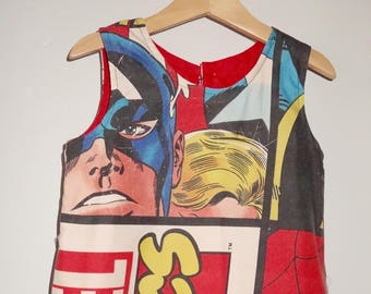 Marvel Comic Fabric Dress Age 3-4