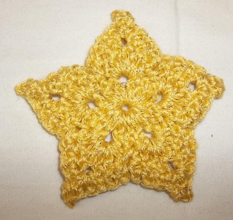 Crochet star ornament