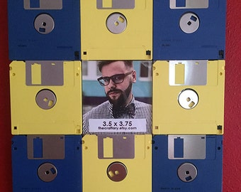 Floppy Disk Picture Frame for Nerds Geeks Tech Vintage Retro Recycle Upcycle Gift