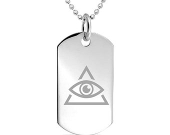 Illuminati custom Engraved Pendant Charm with Necklace Keychain Jewelry or  Bags 86079aeb72d6