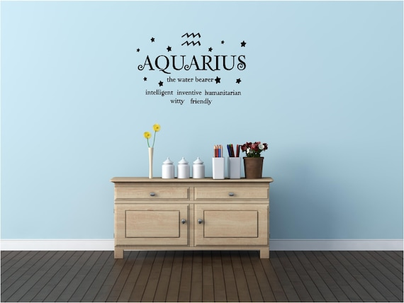 Aquarius: Intelligent, Humanitarian, Inventive, Witty Friendly - Wall Decal by EpicDesignsDecor