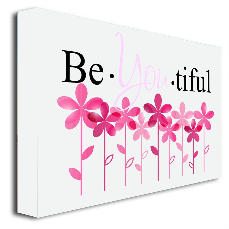 cute wall art print wall sayings quotes 22/'/'width x 16/'/' Height Framed canvas print #2 Be You tiful