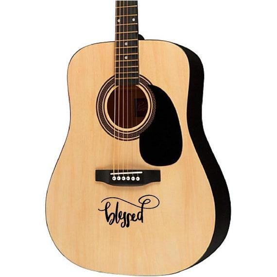 Guitar sticker decal violin electric guitar ukulele designs Blessed