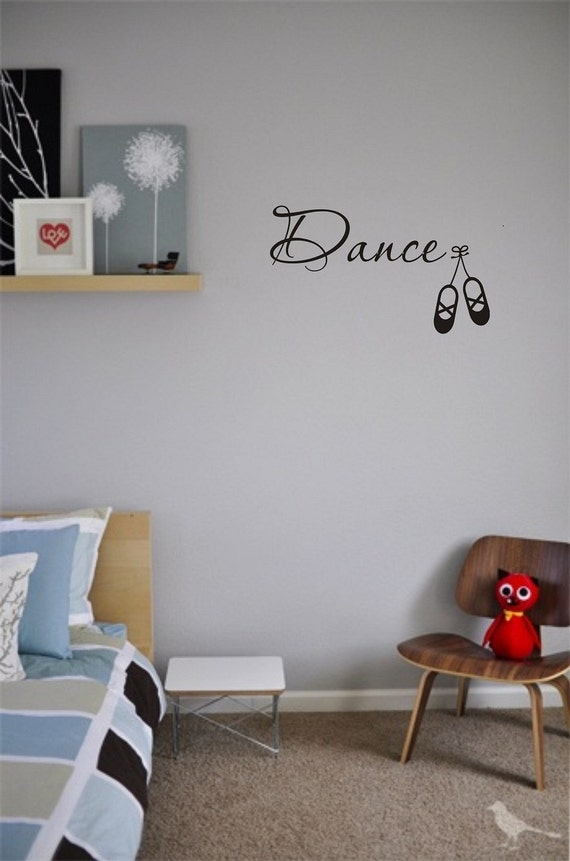 Dance Wall Art Decals Love Dancing Rain Storm Vinyl Cute Etsy