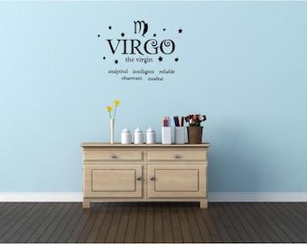 Virgo the virgin horoscope zodiac wall art wall sayings vinyl letters stickers decals