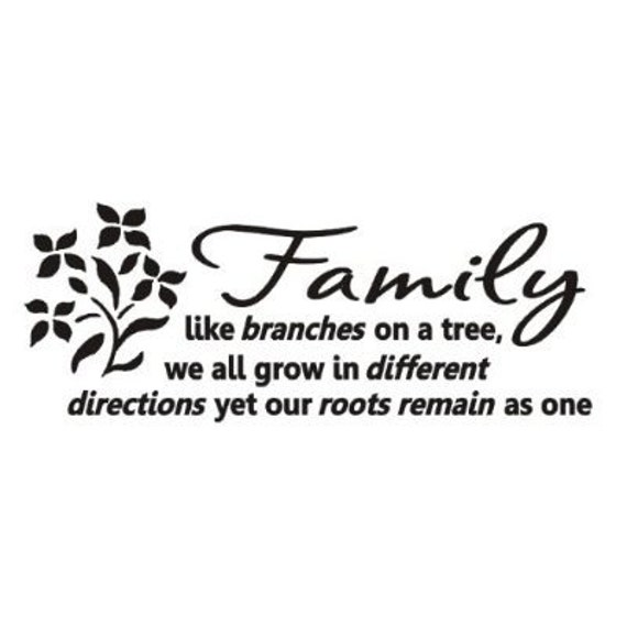 Family Like Branches On A Tree Wall Art Decals Vinyl Love Etsy