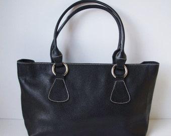 cbdb97cca6497 AVORIO Handbag Italian Italy Black Leather Shoulder Crossbody