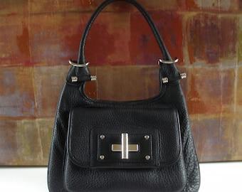 f77d1b9a0f5a BANANA REPUBLIC Handbag Vintage Black Leather Shoulder Purse