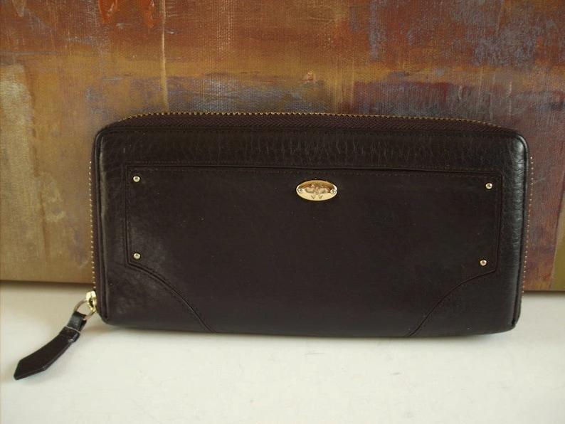 47f8ddffdf COLE HAAN Wallet Zip Around Brown Leather | Etsy