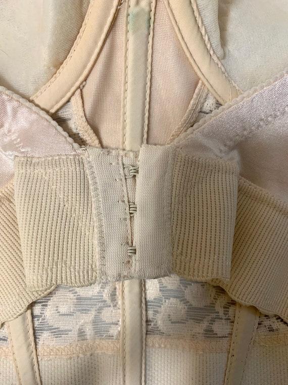 Vintage Beige Lace 34D Bustier/Corset - image 5