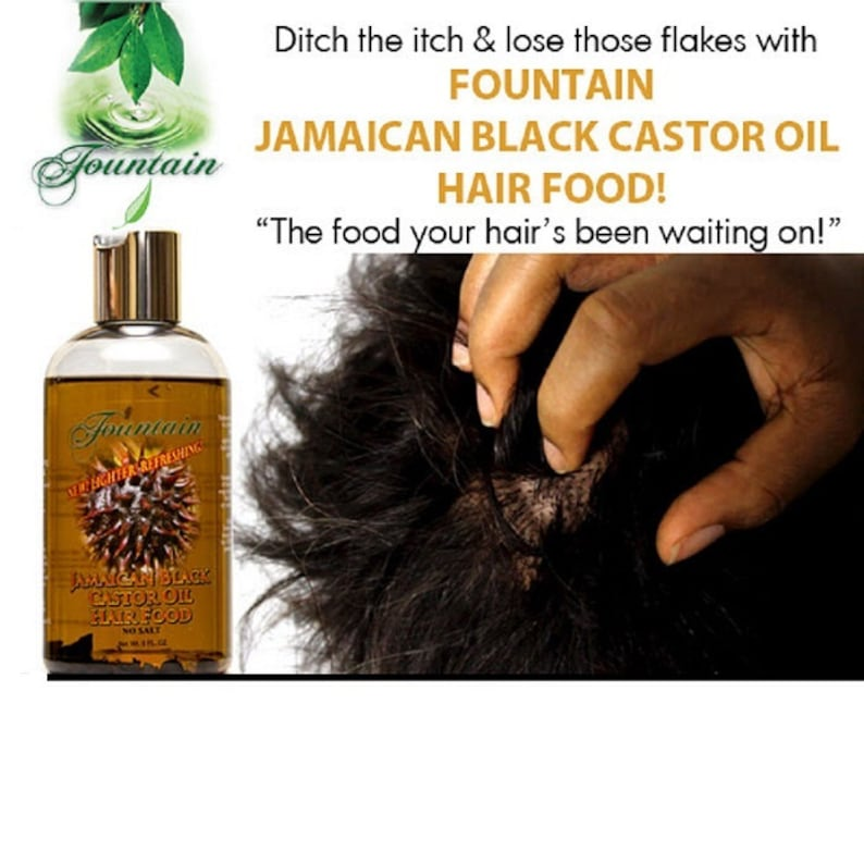 Jamaican Black Castor Oil Hair Food Thinning Hair Treatment To Etsy
