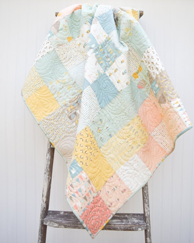 BabyQuilt Small Lap Quilt Handmade Quilt Made in the USA Crib Quilt READY-2-SHIP